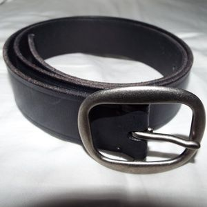Black Leather Hollister Belt